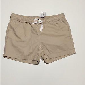 Lands End khaki shorts girls